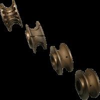 La foto mostra un set di mole a profilo per macchina CNC