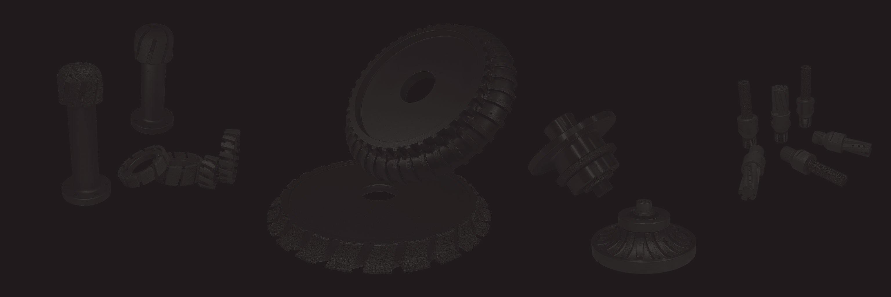 Sfondo collage di utensili diamantati